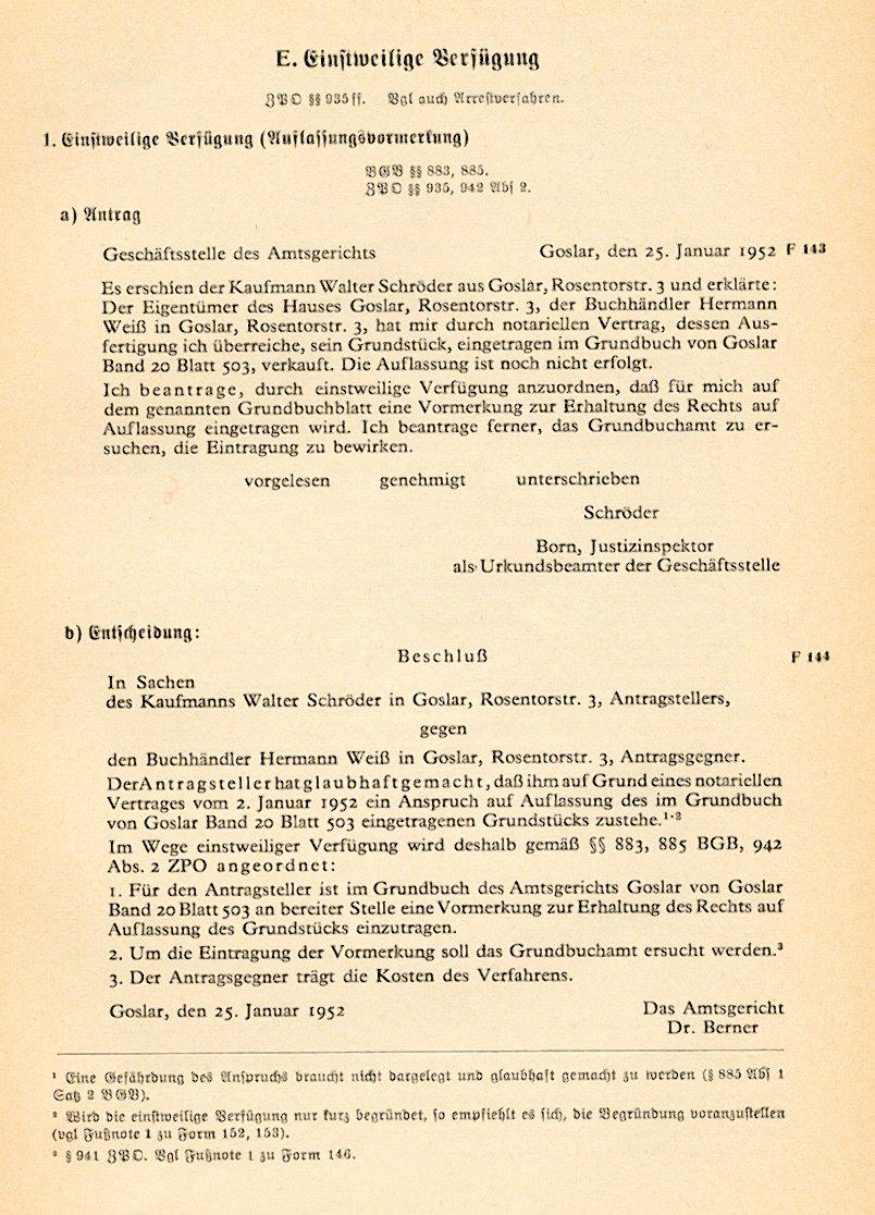 zivilprozess und zwangsvollstreckungsrecht fr rechtsreferendare der einstweilige rechtsschutz arrest und einstweilige verfgung - Einstweilige Verfugung Muster